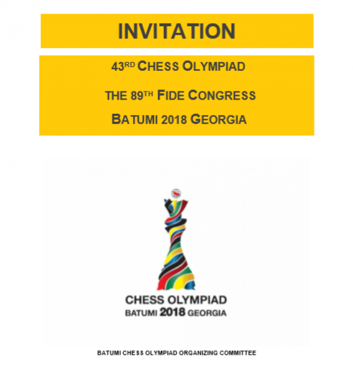 The 43rd World Chess Olympiad: Invitation