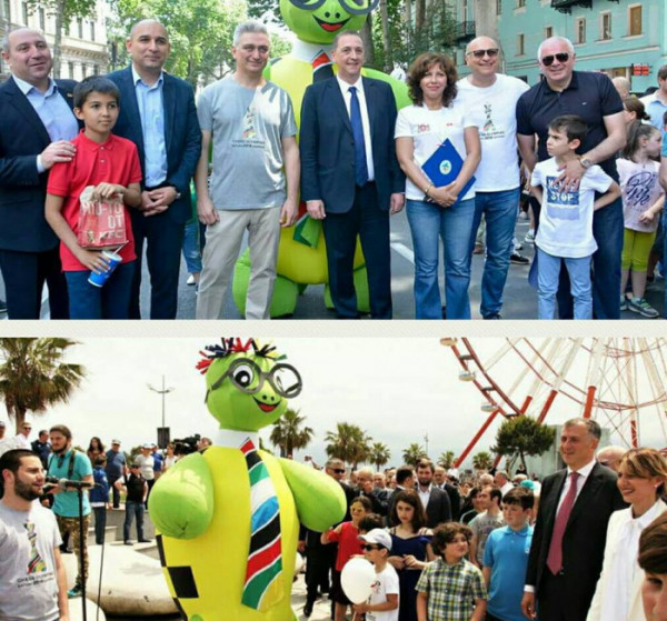 Independence Day of Georgia and the 43rd Chess Olympiad mascot