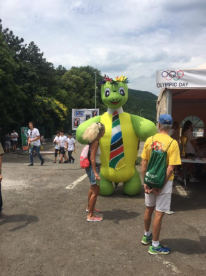 Chess Olympiad 2018: The Olympic Day at the turtle lake
